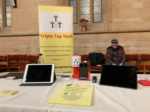 Our info stall at the Dolphin tech Event.