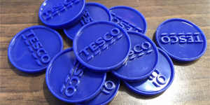 A few Tesco blue coins.