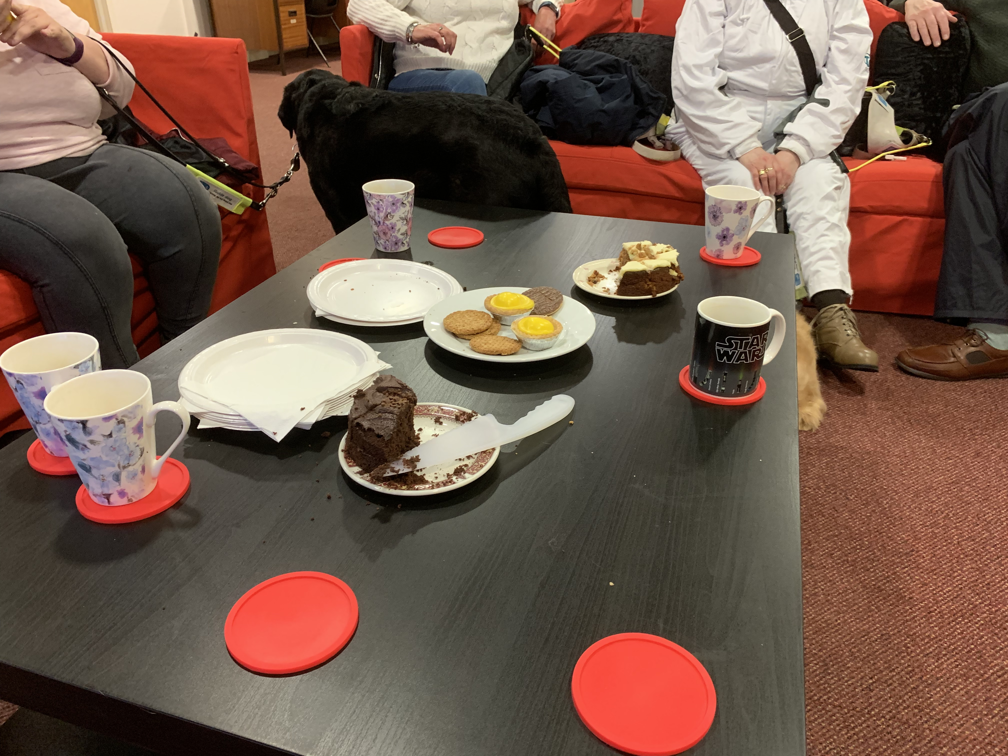 Our group of Cake Coffee and Chat. With some cakes still left on the Table. however they were not there for long.